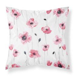 Kissenbezug von MALUU, Motiv Poppy Meadow, Maße 45 x 45 cm