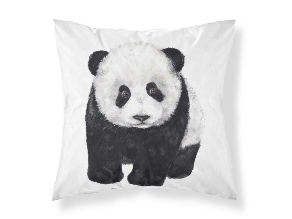 Kissenbezug von MALUU, Motiv Panda, Maße 45 x 45 cm