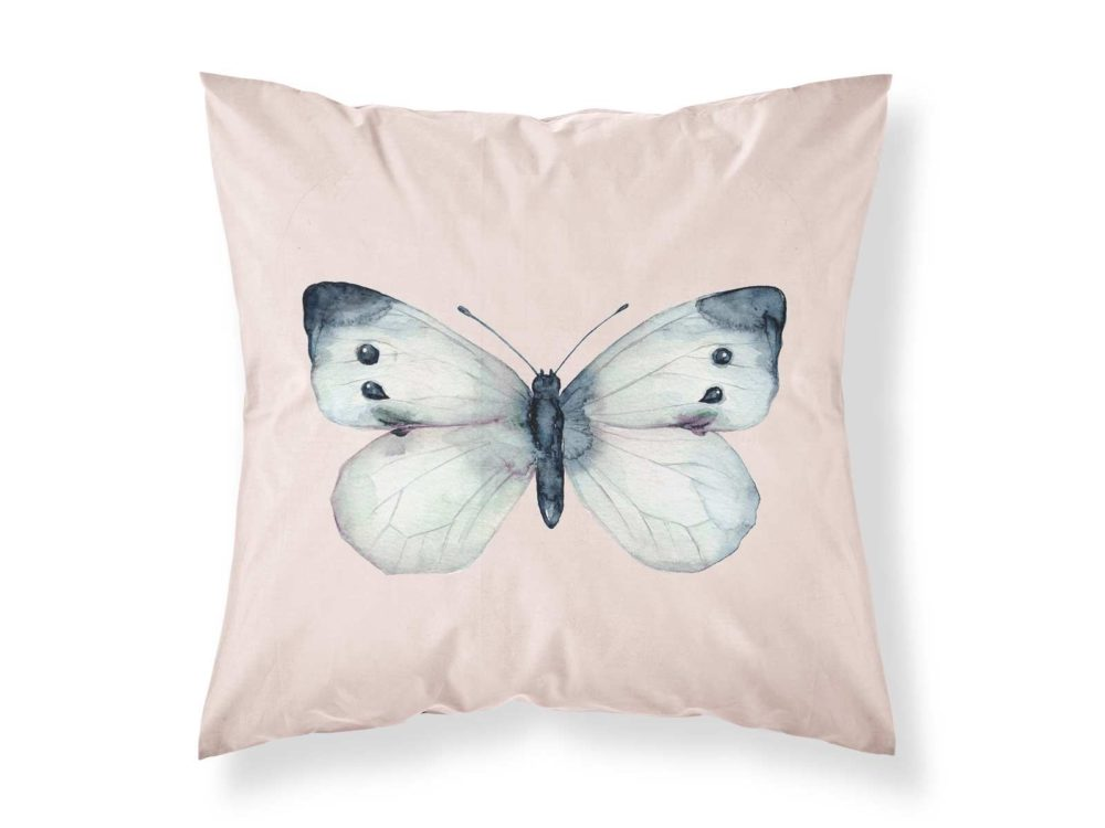 Kissenbezug von MALUU, Motiv Schmetterling, Maße 45 x 45 cm