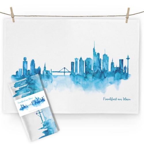 MALLU Geschirrtuch Frankfurt Skyline