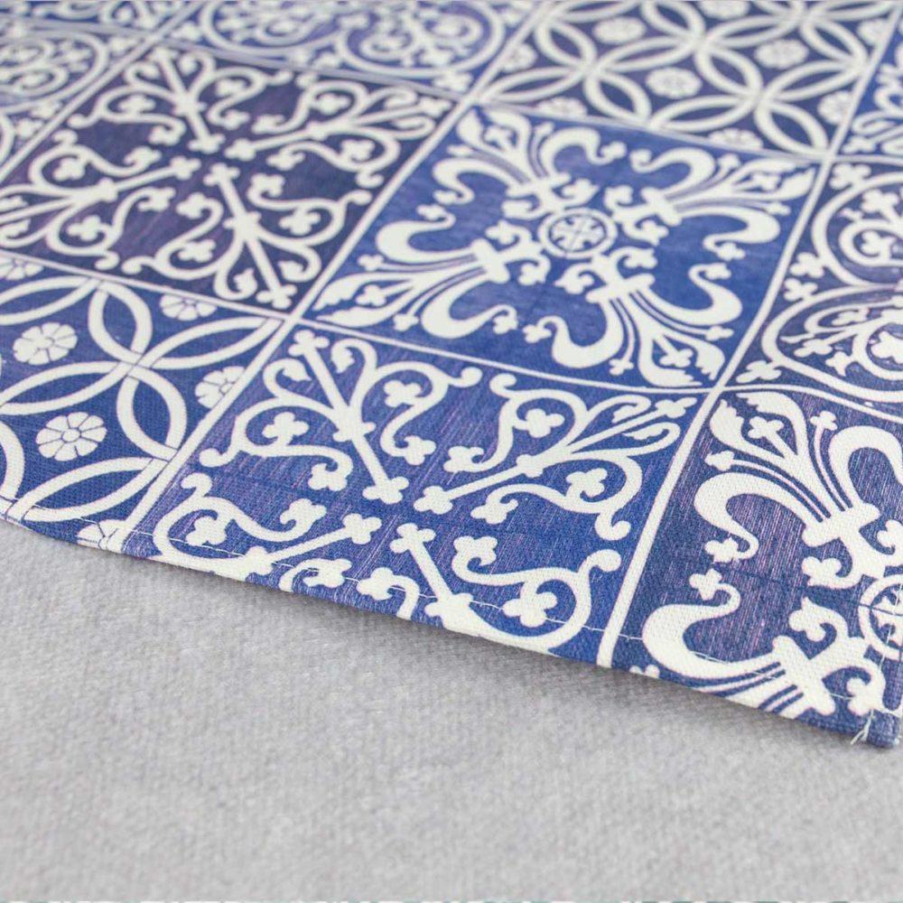 MALUU Geschirrtuch, 100% Baumwoll, Motiv Kitchen Classic blau closeup