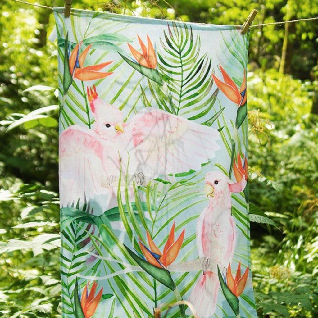 MALUU Geschirrtuch, 100% Baumwoll, Motiv Parrot Jungle