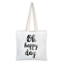 MALUU Shopping Bag Baumwolle, Motiv Oh happy day