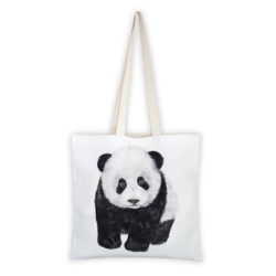 MALUU Shopping Bag Baumwolle, Motiv Panda