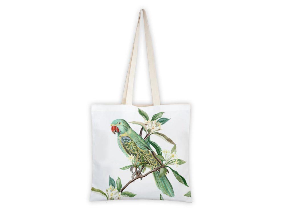 MALUU Shopping Bag Baumwolle, Motiv Papagei