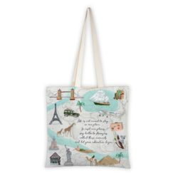 MALUU Shopping Bag Baumwolle, Motiv Travel