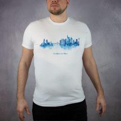 MALUU T-Shirt Männer Frankfurt blau