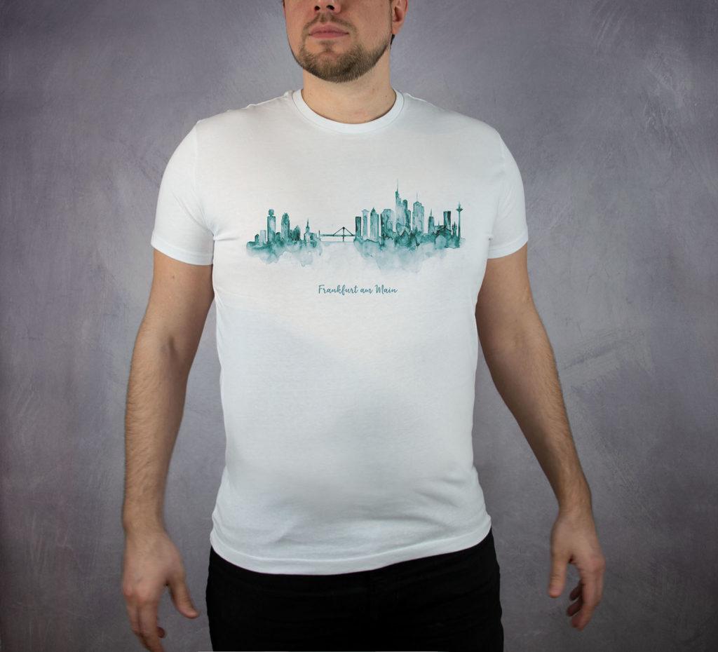 MALUU T-Shirt Männer Frankfurt petrol